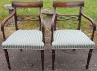 SOLD - Set of Ten Georgian Style Mahogany Dining Chairs
